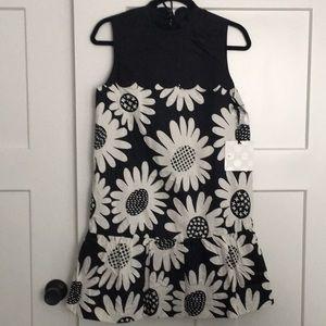 VICTORIA BECKHAM • Target Black Floral Dress Sz SM
